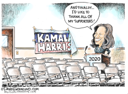 Kamala Harris quits 2020 race by Dave Granlund