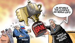 WADA cup to Russia by Paresh Nath