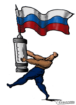Drug scandal in Russian sports by Vladimir Kazanevsky