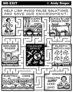 Environmental Technofix Maze by Andy Singer