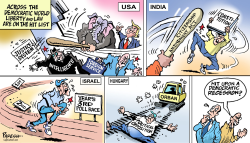 Democracies in danger by Paresh Nath