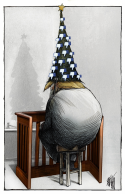 Christmas impeachment by Angel Boligan