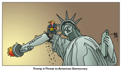 threat to democracy by Arend van Dam
