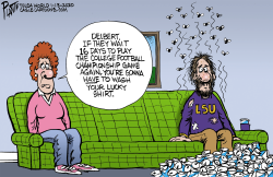 NCAA National Championship by Bruce Plante