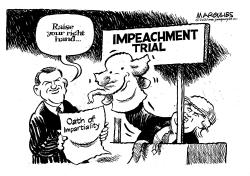 Impeachement Trial Oath by Jimmy Margulies