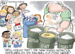 School Lunch by Pat Bagley