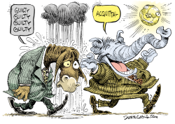 Dems and GOP Acquittal  by Daryl Cagle