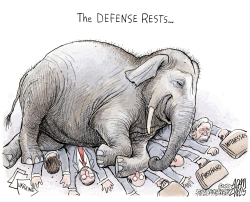 Trump defense by Adam Zyglis