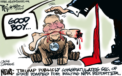 Big Bully Pompeo by Milt Priggee