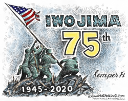 Iwo Jima 75th Feb 19 by Dave Granlund