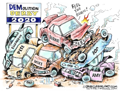 Demolition derby 2020 by Dave Granlund