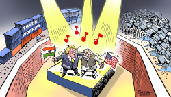 Trump and Modi show by Paresh Nath