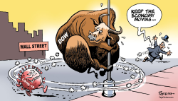 Wall Street and virus by Paresh Nath