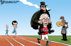 Bernie and Castro by Bruce Plante