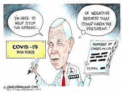 Pence COVID 19 reports by Dave Granlund