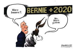 Democrats and Bernie Sanders by Jimmy Margulies