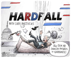 Chris Matthews HardFall by Adam Zyglis