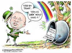 Mick Mulvaney fired by Dave Granlund