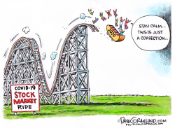 Stock Market COVID19 Ride by Dave Granlund