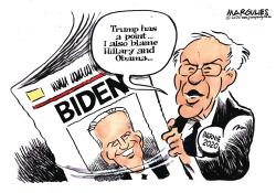 Biden and Sanders by Jimmy Margulies