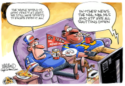 Coronavirus sports shutdown by Dave Whamond