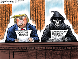 Covid Oval Office Address by Kevin Siers