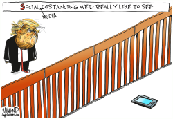 Social Media Distancing by Dave Whamond