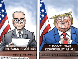Trump, Truman and COVID-19 by Kevin Siers