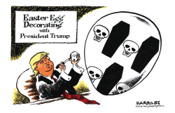Trump Easter Eggs by Jimmy Margulies