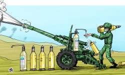 War at time of Corona  by Emad Hajjaj