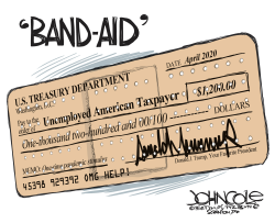 Stimulus band-aid by John Cole