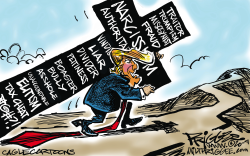 Trump cross by Milt Priggee