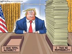 Trump Total Authority by Kevin Siers