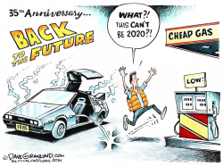 Back to the Future 35th by Dave Granlund