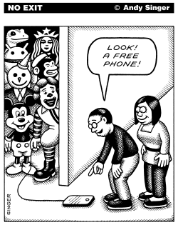 Free Phones by Andy Singer