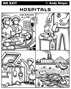 Hospital Waste by Andy Singer
