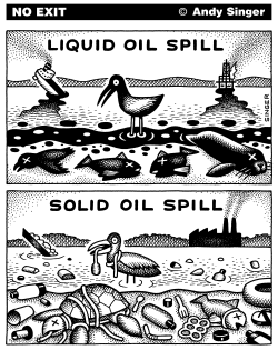 Liquid and Solid Oil Spills by Andy Singer