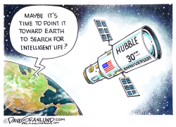 Hubble Telescope 30th by Dave Granlund