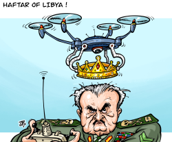 Haftar of Libya by Emad Hajjaj