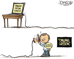Online lessons and the digital divide by John Cole