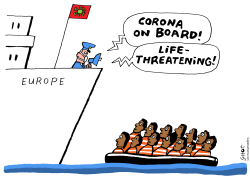 Refugees in times of corona by Schot