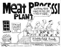 Meat shortage (That's what she said) by John Darkow