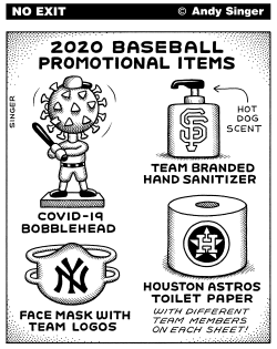 2020 Baseball Promotional Items by Andy Singer