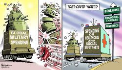 Military spending and corona by Paresh Nath