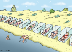 Social Distance Boxes by Marian Kamensky