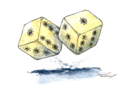 A Roll Of The COVID Dice by Dale Cummings