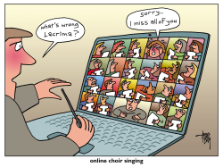 online choir singing by Arend van Dam