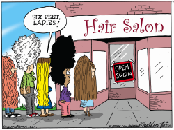 Hair Salons Opening by Bob Englehart