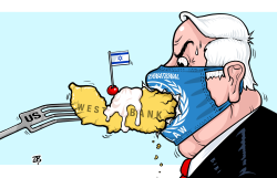 Annexation of West Bank  by Emad Hajjaj