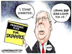 Mitch and Obama Pandemic Plan by Dave Granlund